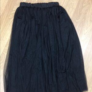 Dresses & Skirts - Goth Mesh Maxi Skirt